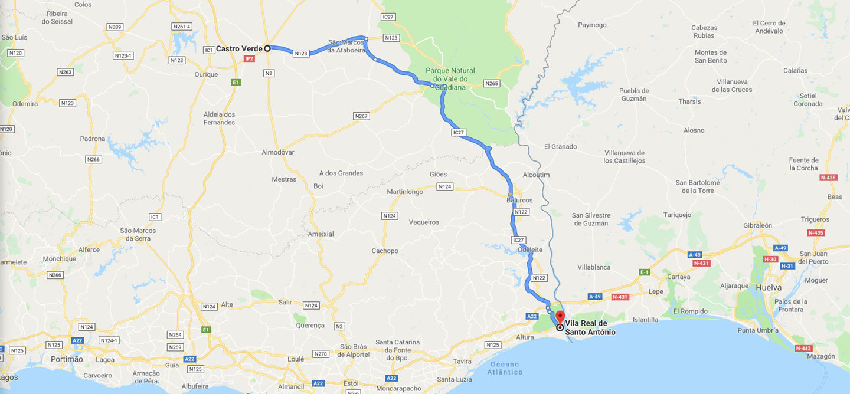 Roteiro Castro Verde - Vila Real de Santo António