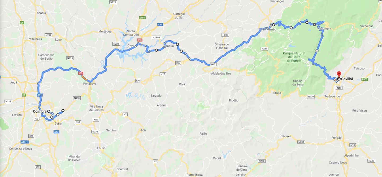 Roteiro Coimbra – Covilhã
